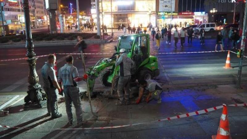Başkent'te engelli rampaları daha güvenli hale getiriliyor