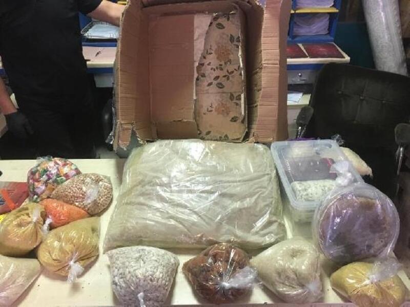 Kargo merkezinde 11 kilo eroin ele geçirildi