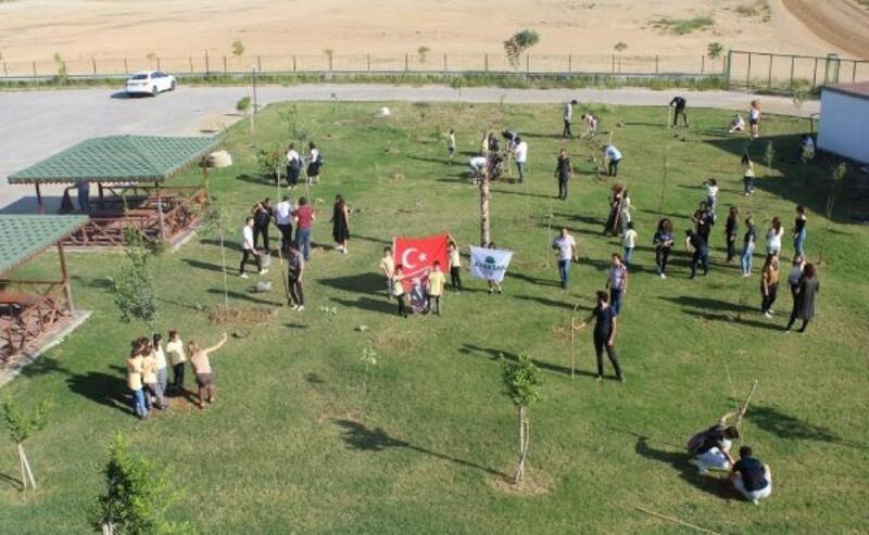 MATSO Turizm Fakültesi bahçesi ağaçlandırıldı