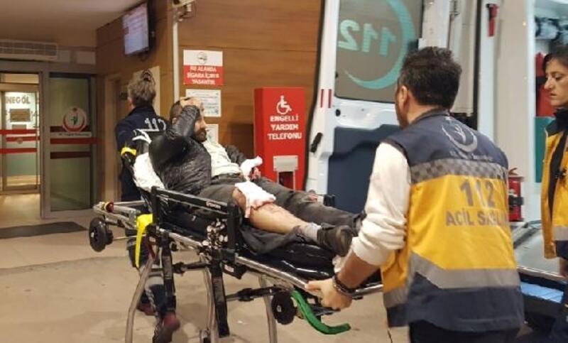 Market sahibi, alkollü müşterisini bacaklarından vurdu