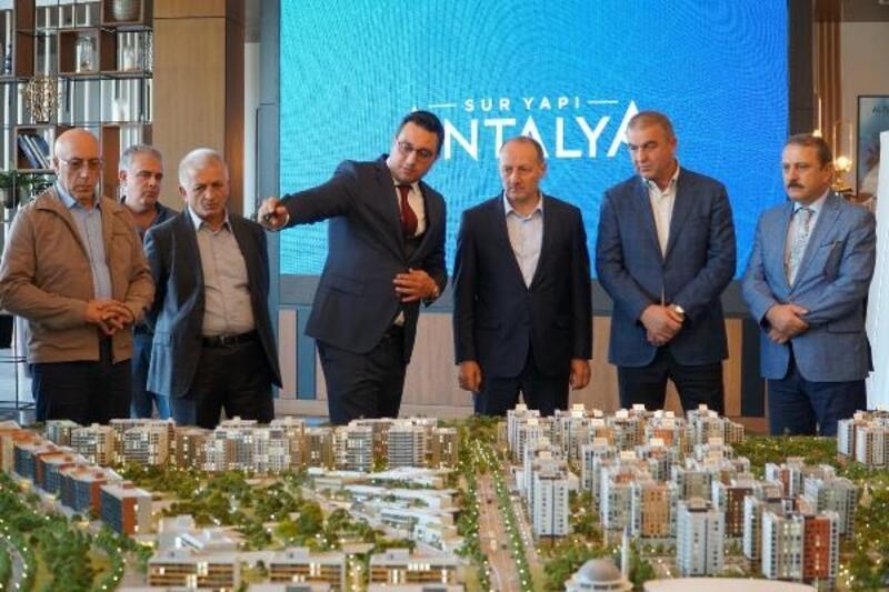 Uluslararası heyetten Sur Yapı Antalya Projesi'ne ziyaret