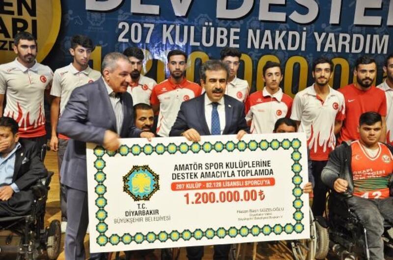 Diyarbakır'da amatör spor kulüplerine katkı