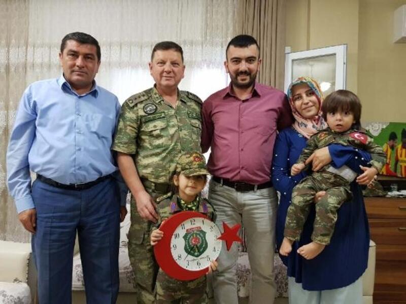 Albay Sancaktar'dan, Gazi ve ailelerine ziyaret