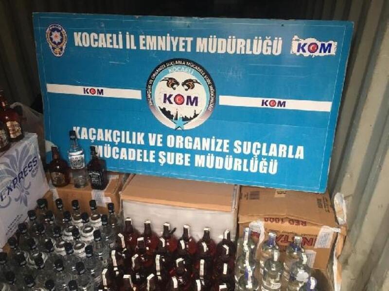170 şişe kaçak içki ele geçirildi