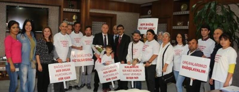 Organ Bağışı Haftası'nda Rektör Ünal'a ziyaret