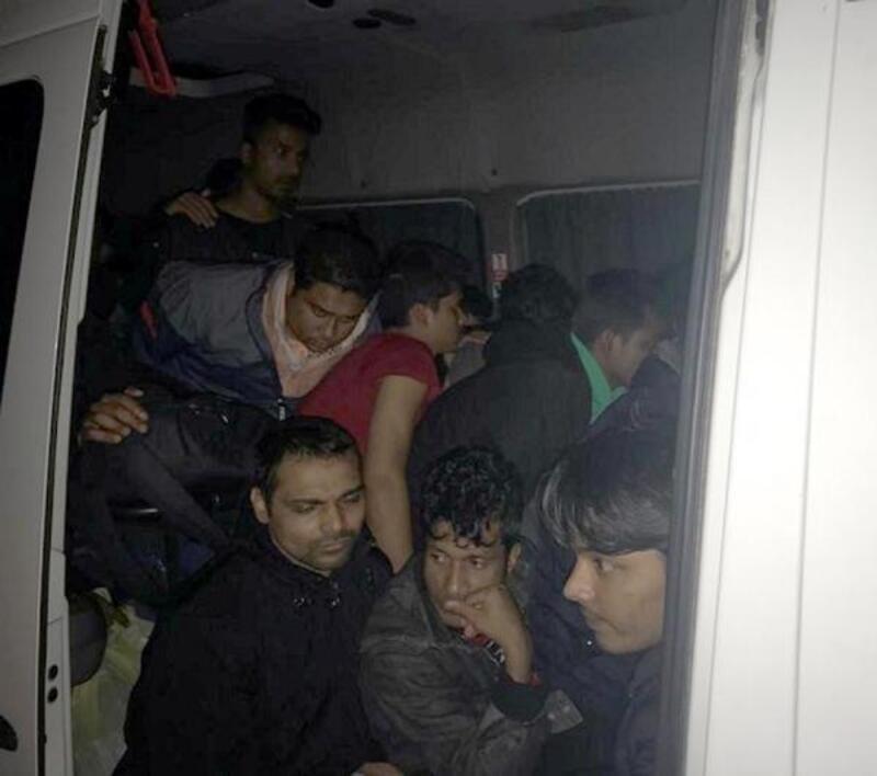 Tekirdağ'da 39 kaçak göçmen yakalandı; 2 organizatör gözaltında