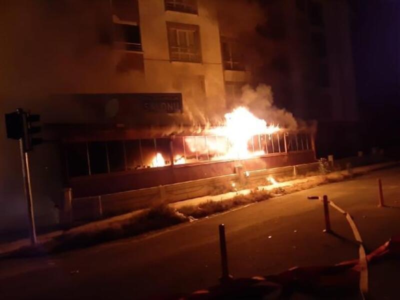 Kırşehir'de lokanta yandı