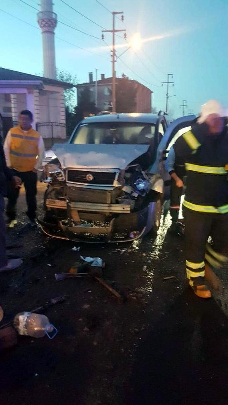 Tekirdağ'da zincirleme kaza: 16 yaralı