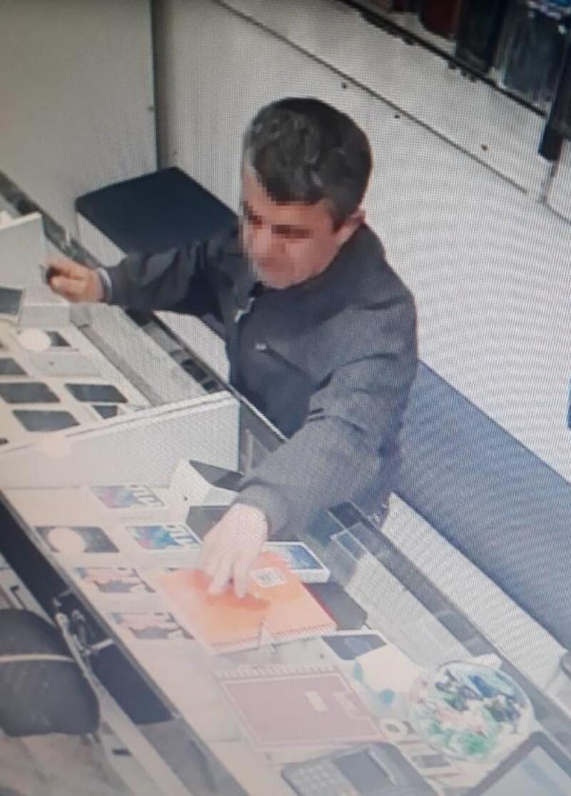 Hırsızı, izindeki polis yakaladı