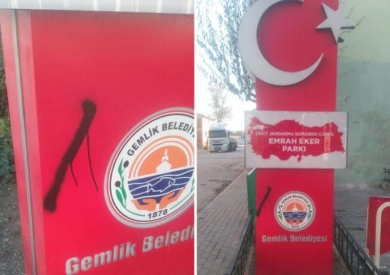 Gemlik Belediye Başkanı Sertaslan, şehit anıtlarına zarar verenlere ateş püskürdü