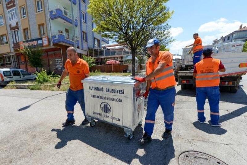Altındağ'da 4 bin çöp konteyneri yerleştirildi