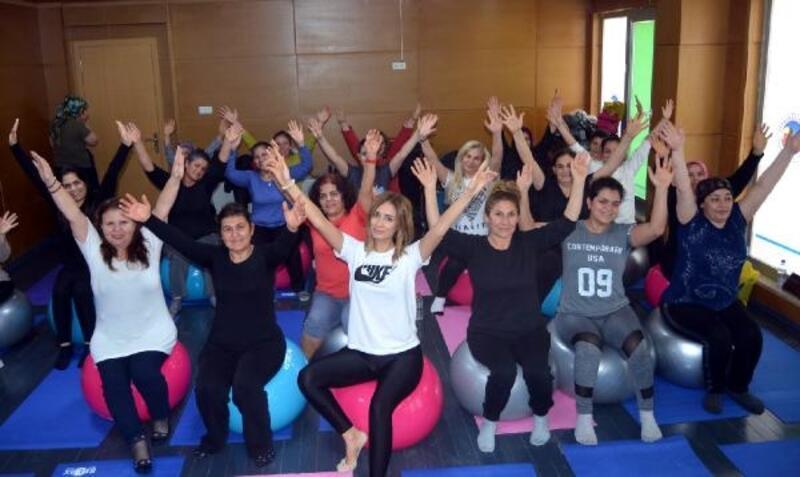 Ceyhan'da kadınlara ücretsiz spor kursu