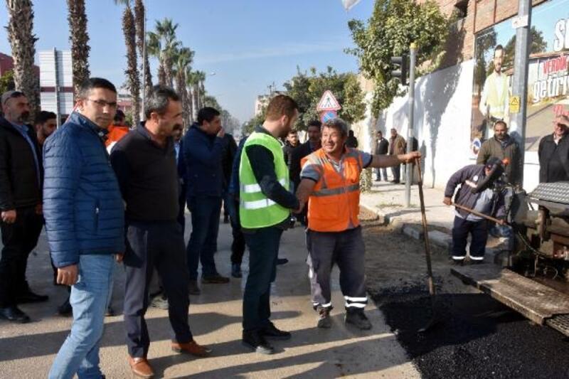Ceyhan'ın asfalt çalışmaları tamamlanıyor