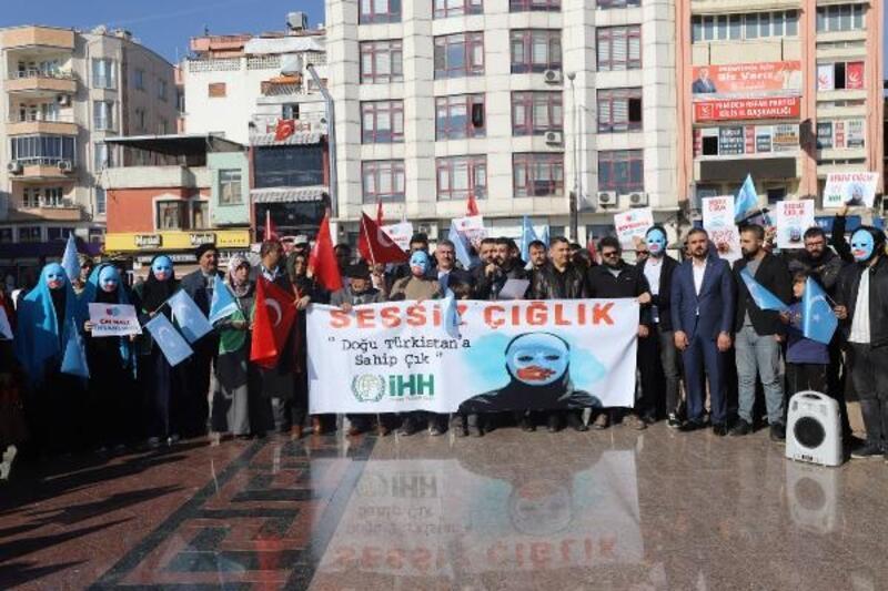 Kilis'te, Uygur Türklerine destek açıklaması
