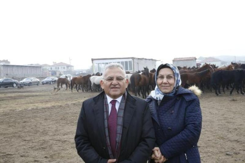 Başkan Büyükkılıç, yılkı atlarını yerinde gördü