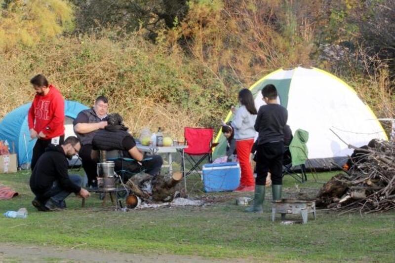 Yılın en uzun gecesinde, kuş cennetinde kamp etkinliği