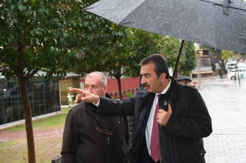 Başkan Çetin, yağış bölgelerini inceledi