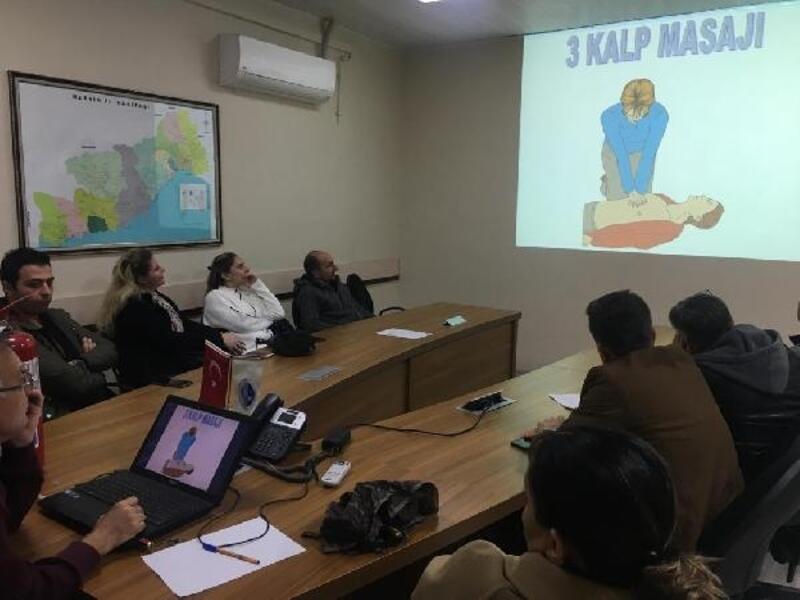 MESKİ çalışanlarına, acil durum müdahale eğitimi verildi