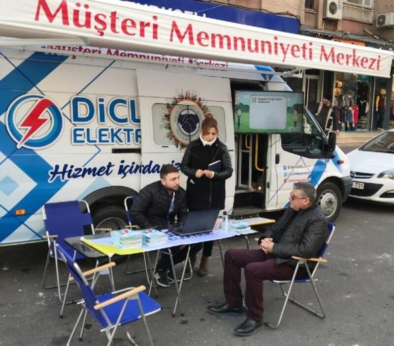 Dicle Elektrik'tenmobil müşteri memnuniyeti ağı