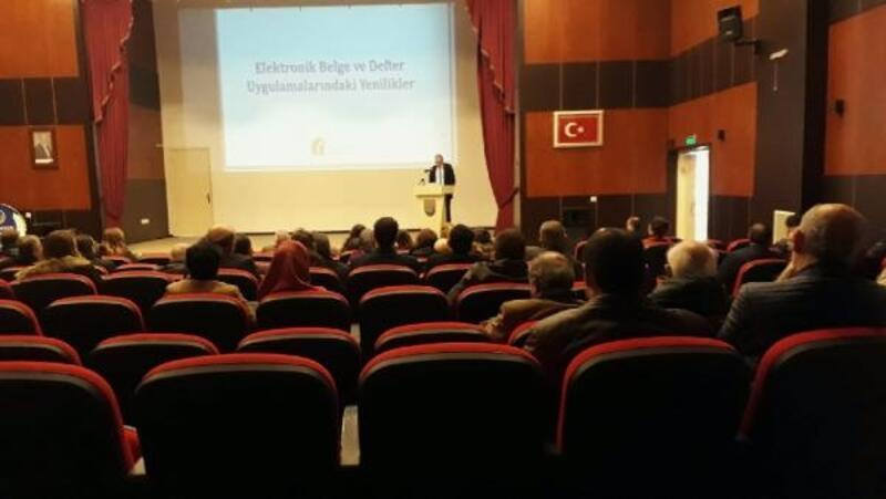 Yenişehir'de muhasebeci ve esnaflara e-uygulamalar anlatıldı