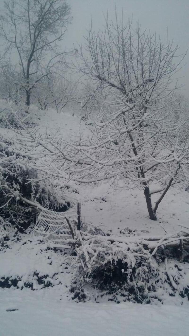 Turgutlu'nun yüksek kesimleri beyaza büründü