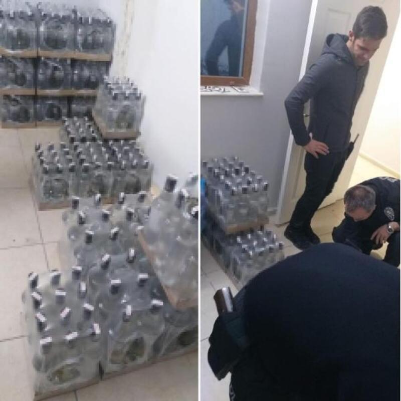 Foça'da yılbaşı öncesi kaçak ve sahte içki operasyonu