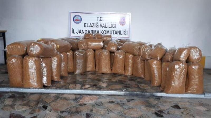 Elazığ'da 328 kilo kaçak tütün ele geçirildi