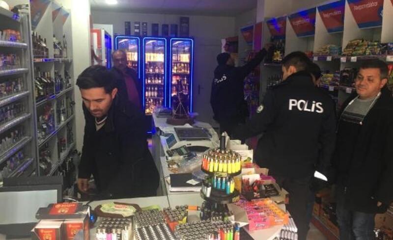 Polis'ten sahte ve kaçak içki denetimi