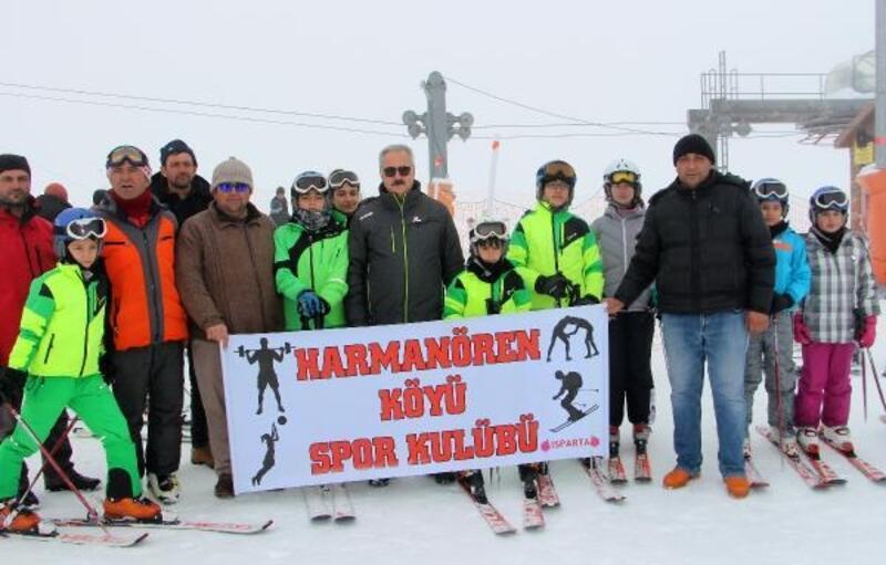 Davraz'da kayak yarışı