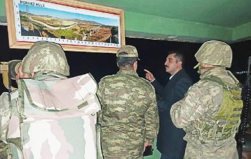 Kaymakam Akça, yeni yıla sınırdaki askerlerle girdi