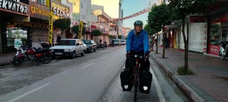 Litvanyalı bisikletli turist Osmaniye'de