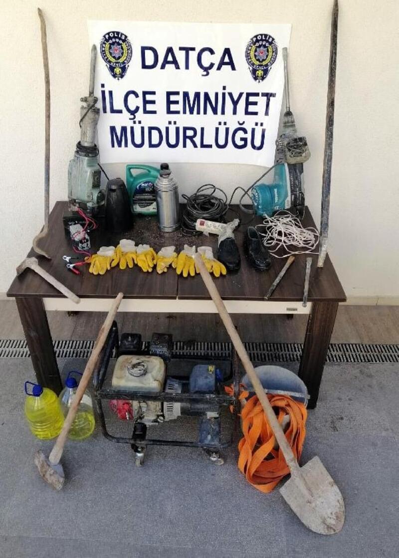 Datça'da kaçak kazı şüphelisi 6 kişi serbest