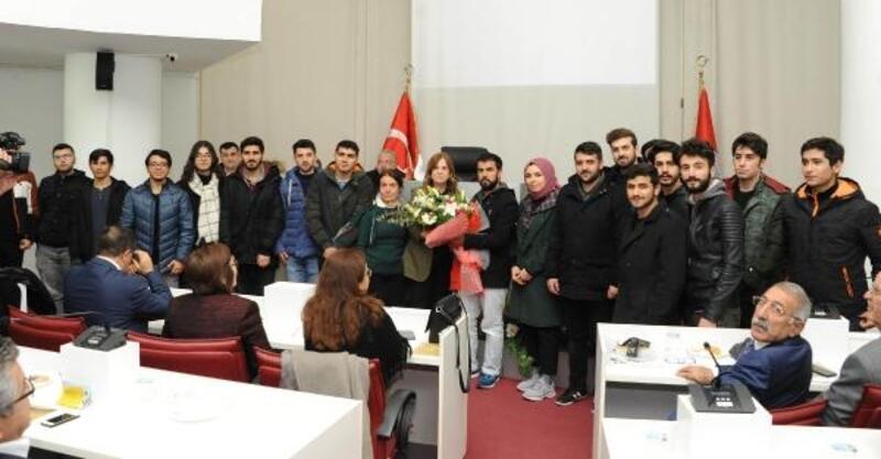 Öğrencilerden belediyeye teşekkür ziyareti
