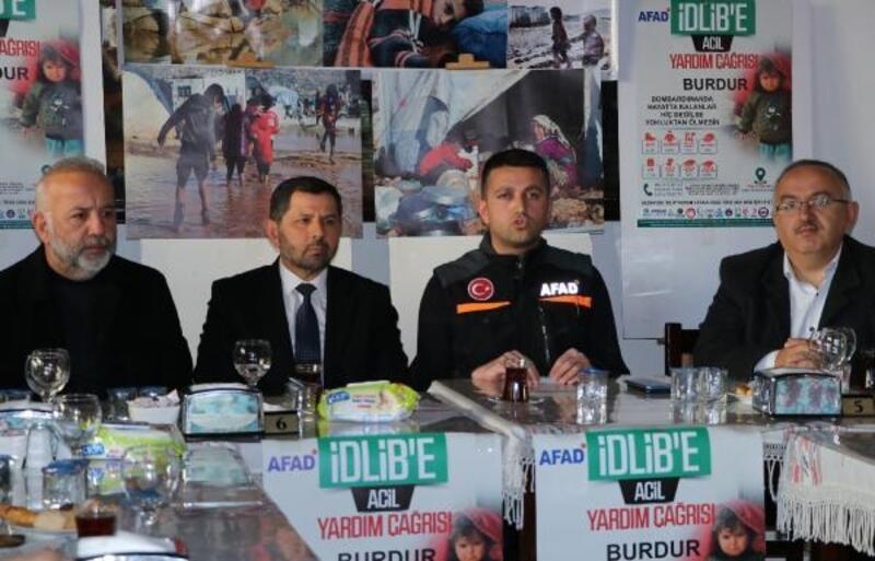 Burdur'dan İdlib'e yardım kampanyası