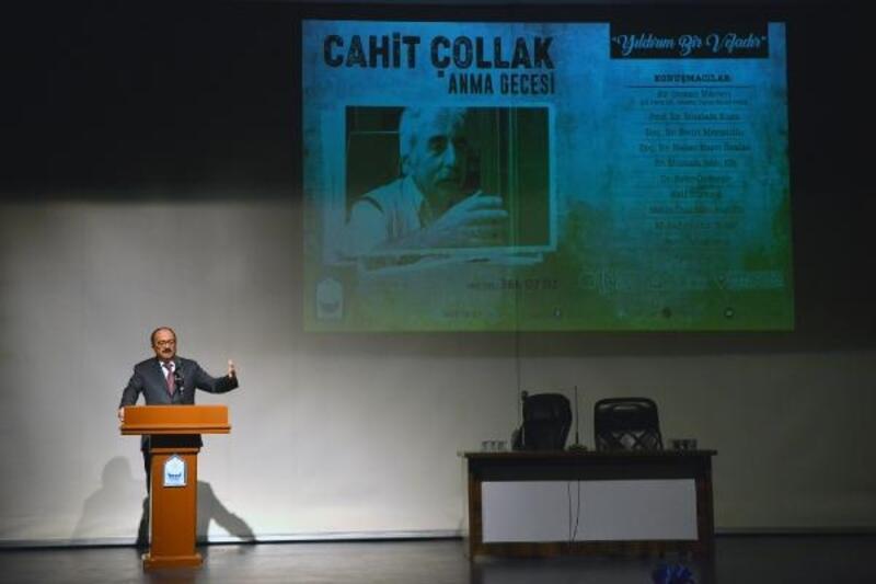 Bursa'nın tanınmış kültür adamlarından Cahit Çollak, Yıldırım'da anıldı