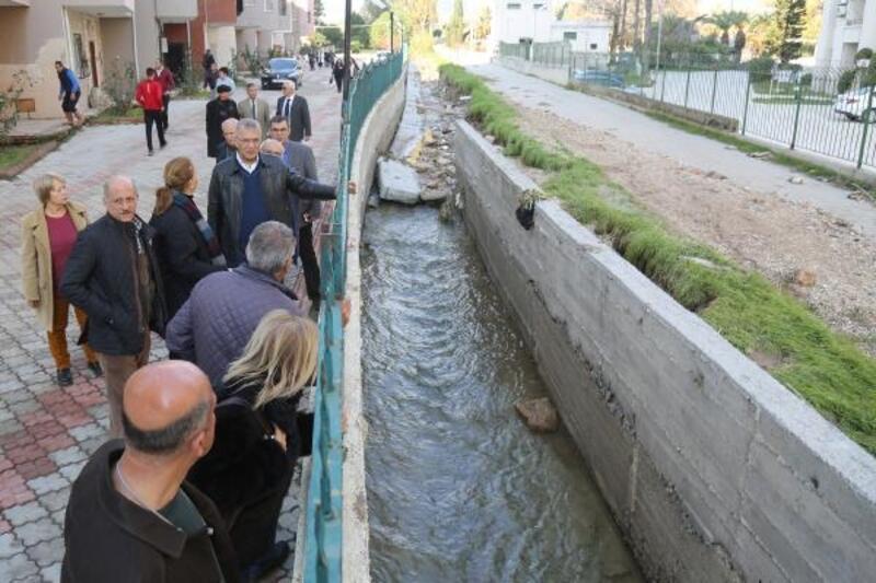 Mezitli'de sele karşı seferberlik