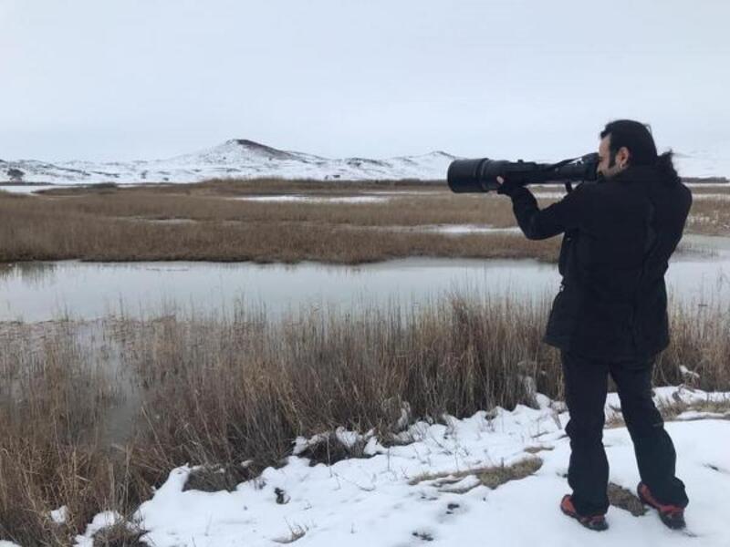 Sivas'ta kış ortası su kuşu sayımı yapıldı