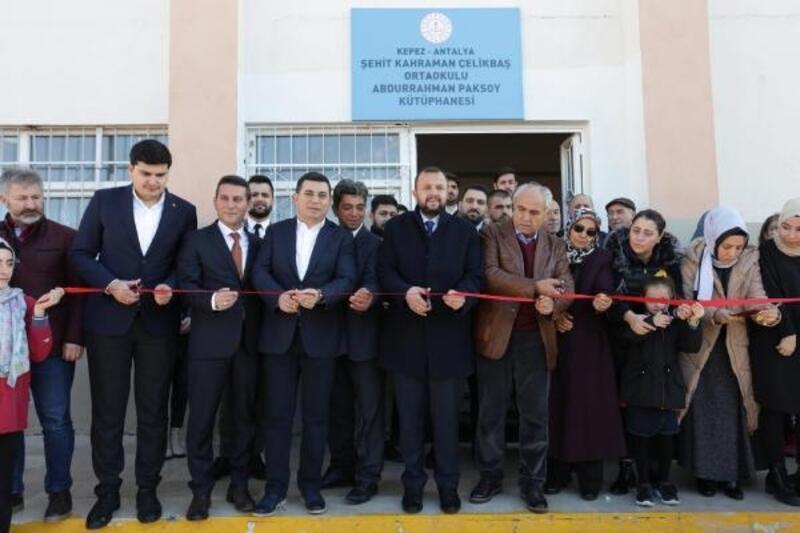 Abdurrahman Paksoy adına kütüphane açıldı