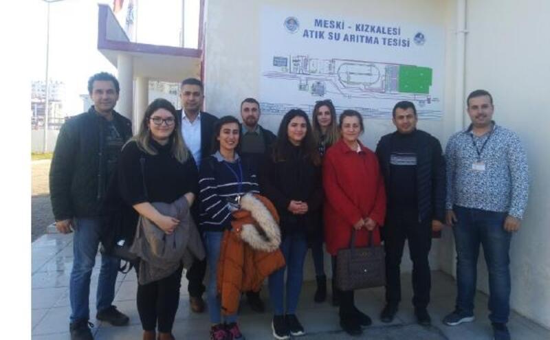 Öğrenciler, Kızkalesi Atıksu Arıtma Tesisi'ni gezdi