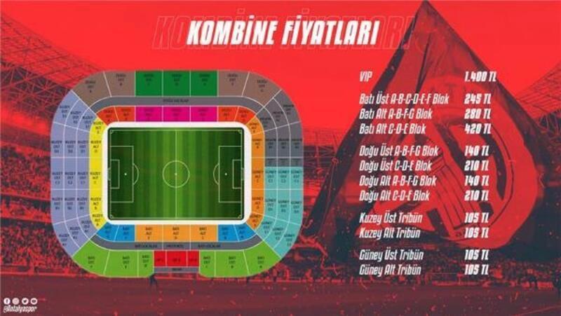 Antalyaspor'da kombine fiyatlarına düzenleme