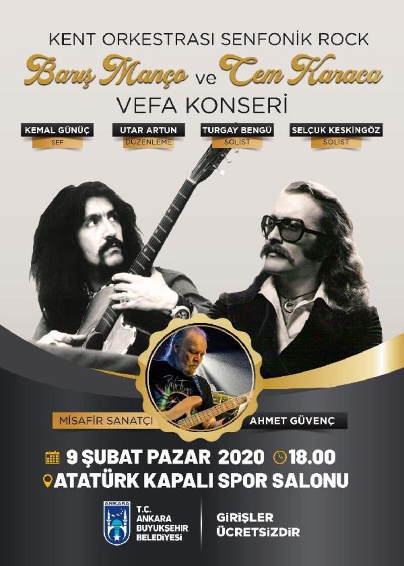 Cem Karaca ve Barış Manço, 'Vefa Konseri' ile anılacak