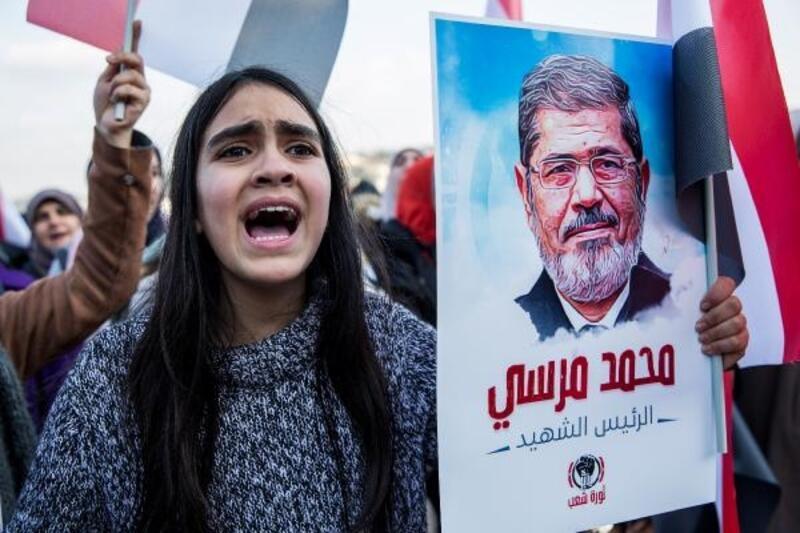 Mısır Konsolosluğu önünde eylem