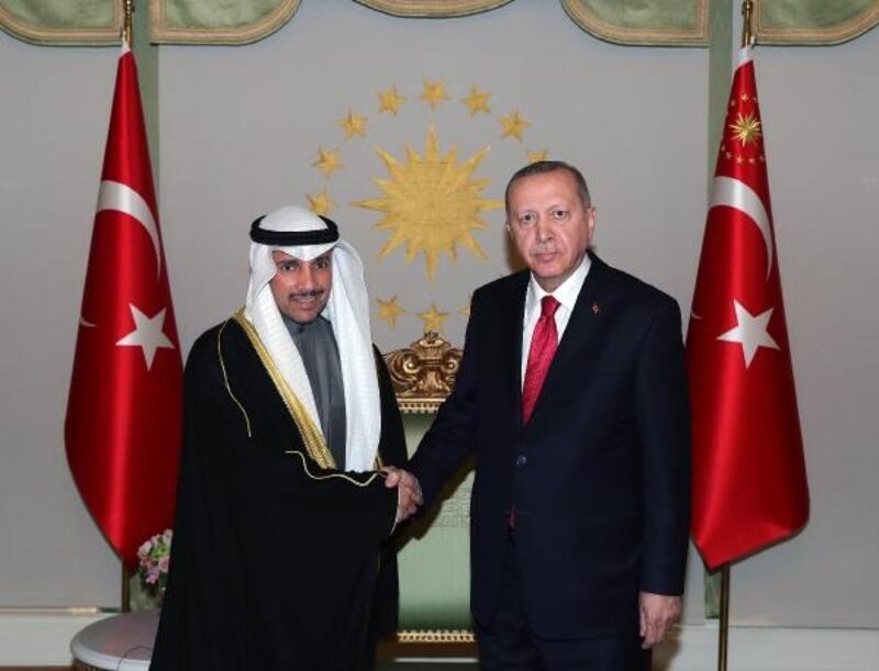 Cumhurbaşkanı Erdoğan Kuveyt Ulusal Meclis Başkanını kabul etti
