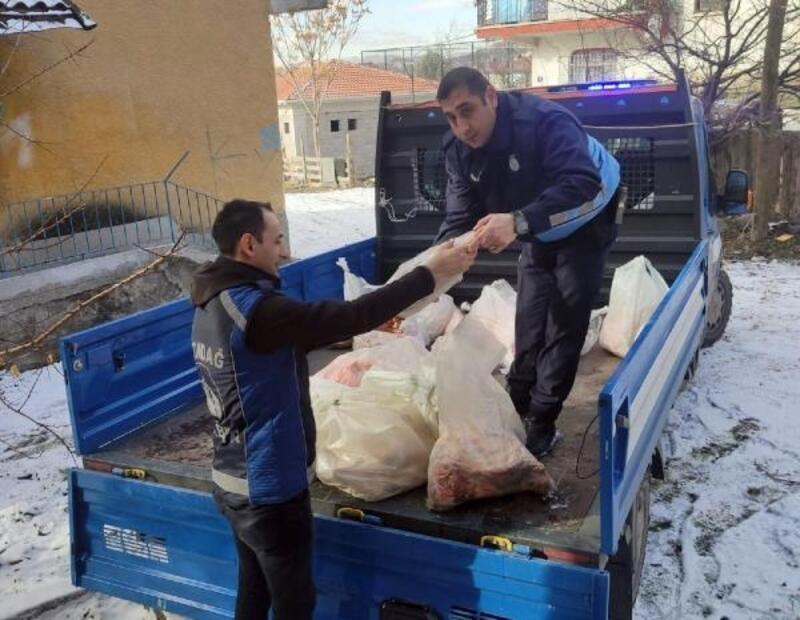 Altındağ'da 200 kilo kaçak ete el konuldu
