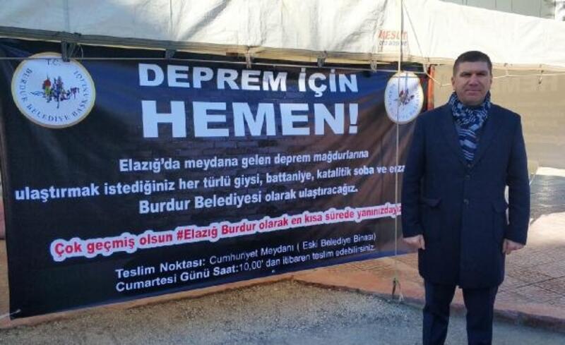 Burdur'da, Elazığ için yardım kampanyası