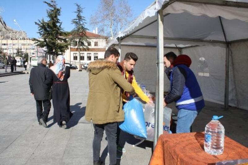 Tokat'ta, Elazığ depremi için yardım kampanyası