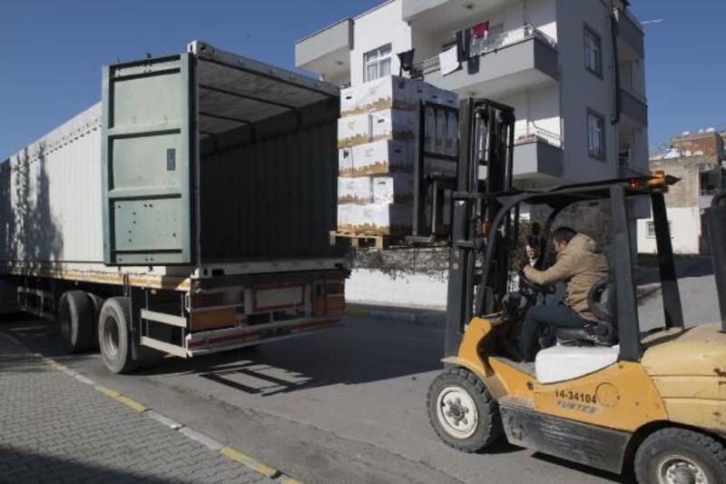Mersin Büyükşehir'den Elazığ'a yardım