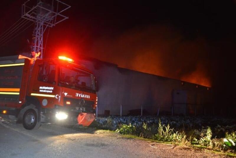 Deri fabrikasında çıkan yangında mahsur kalan bekçi öldü