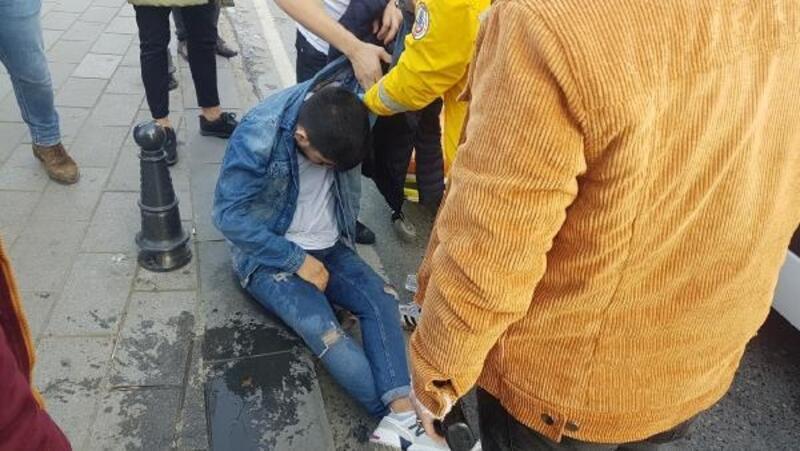 Taksim'de alkol komasına girdiği iddia edilen genç hastaneye kaldırıldı