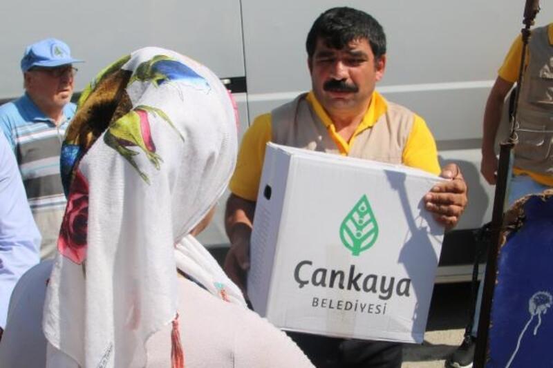 Çankaya Belediyesi, ihtiyaç sahiplerine yardımlarını sürdürüyor